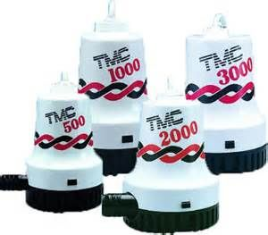 TMC marine Bilge Pumps 500 to 3000gph 12V